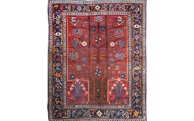 AN ANTIQUE NERIZ RUG, SOUTH-WEST PERSIA