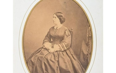 First Lady Julia Dent Grant Albumen Photograph