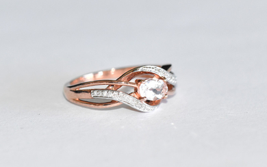 A 9ct ROSE GOLD RING