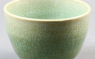 A Chinese Celadon Crackle-Glazed Bowl