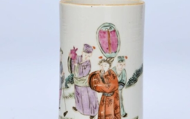 A Chinese Famille Rose Figure Painted Porcelain Brush