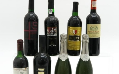 A Collection of Eight Bottles of Wine