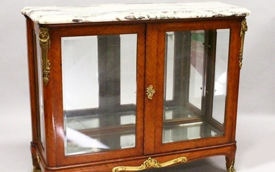 A GOOD FRENCH KINGWOOD, MARBLE AND ORMOLU CABINET by