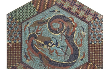 A JAPANESE METAL CLOISONNÈ DECORATED PANEL. EARLY 20TH CENTURY