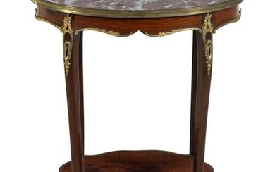 A Louis XV Style Gilt Bronze Mounted Rosewood
