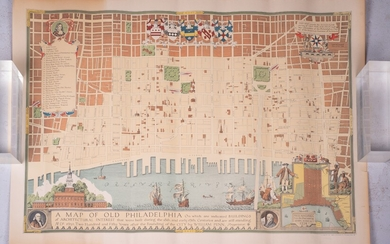 """A Map of Old Philadelphia�.."", 1932"