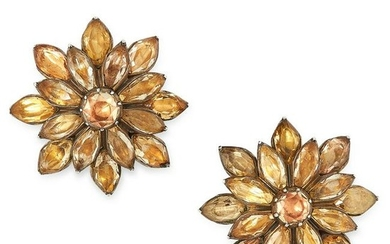 A PAIR OF ANTIQUE TOPAZ EARRINGS, PORTUGUESE LATE 18TH