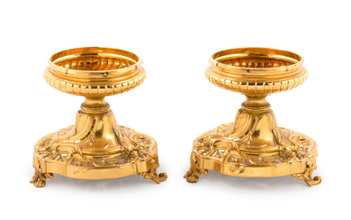 A Pair of French Silver-Gilt Tazze