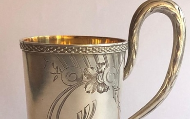 A Russian Silver Glass Holder, made by Egor Cheryatov for Lorie.