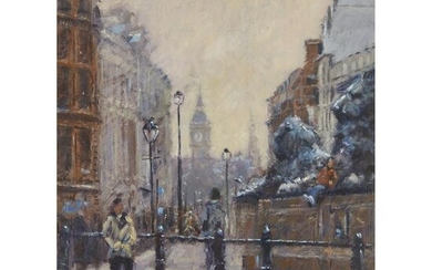 § TONY FORREST (BRITISH CONTEMPORARY) A BUSY LONDON