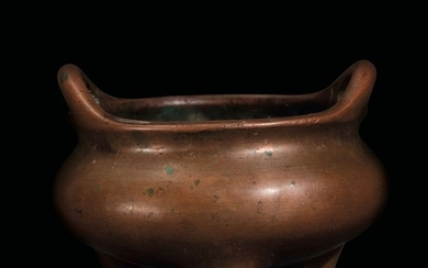 A bronze censer, China, Ming Dynasty, late 1600s
