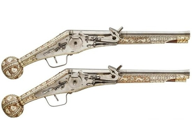 A pair of long wheellock pistols by Peter Danner