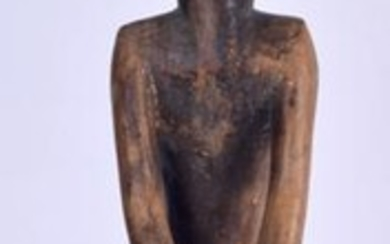 AN EARLY 20TH CENTURY AFRICAN CARVED HARDWOOD TRIBAL