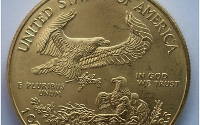 American Gold Eagle $50 dollar One Ounce Solid Gold Coin 202...