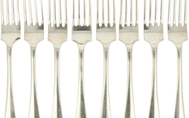 """An (8) piece lot of """"Haags Lofje"""" dinner-forks."""