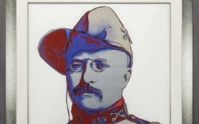 "Andy Warhol ""Teddy Roosevelt (from Cowboys and"