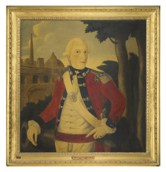 Anglo-Indian School, 18th century, Portrait of John Thomas De Burgh, 13th Earl of Clanricarde (1744-1808), three-quarter-length, in military uniform