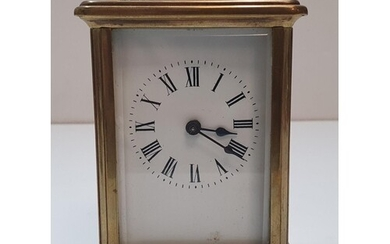 Antique French carriage clock compete with case & 2 keys, 1...