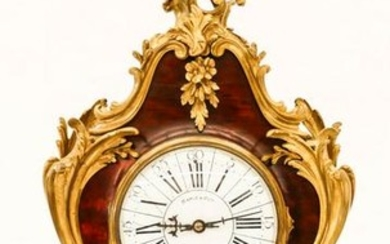 Antique Gubelin Swiss Boulle Mantel Clock 21.5''x9.5''.