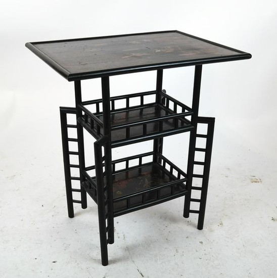 Lot-Art | Antique Japanese Decorated Three-Tier Table