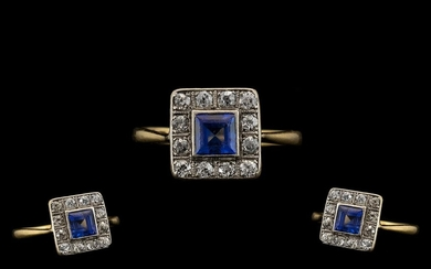 Art Deco Period 18ct Gold and Platinum Attractive Diamond an...