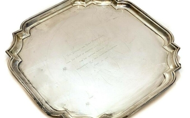 Barker Bros Sterling Silver Footed Tray