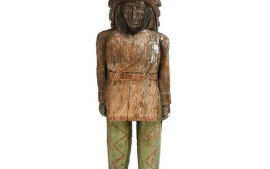 Carved Figural Cigar Store Indian Chief