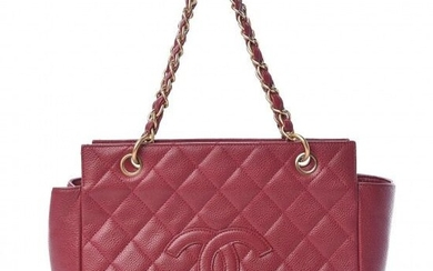 Chanel - Caviar Quilted Petit Timeless Tote PTT Dark Pink Clutch bag