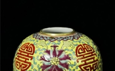 Chinese Famille Rose Porcelain Beehive Waterpot