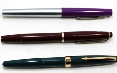 Collection of 3 Old Fountain Pens