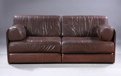 De Sede Exclusive. Freestanding module sofa, Model DS 76, with sofa bed function, brown leather (2)