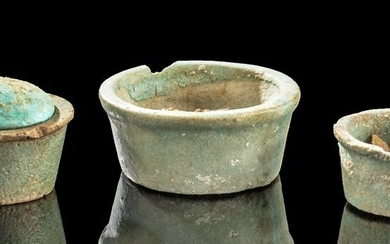 Egyptian Saite Period Faience Jars (group of 3)