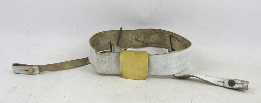 FRANCE. Infantry belt model 1845 in white buffalo...