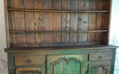 FRENCH PROVINCIAL OAK VAISELLIER, 19TH C.