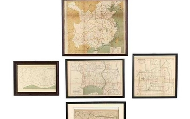 Five Maps of Areas in China