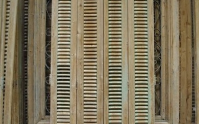 French louvre shutters (1) - French pine wood - circa 1900