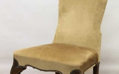 George I style upholstered side chair