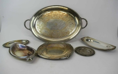Group of Assorted Silver Plated Serving Trays