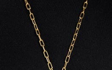 HELIETTA CARACCIOLO FOR ANDRE' LAUG GILDED METAL NECKLACE Late 70s...