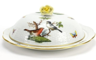 Herend of Hungary hand painted porcelain butter dish