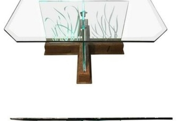 Illuminated Square Dining Table 1970-1980