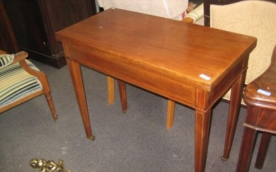 Inlaid Mahogany Georgian style Games Table (top is plain) 83...