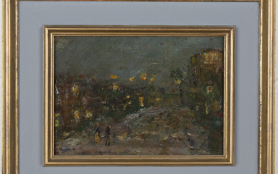 Konstantin Korovin - 'Paris', oil on panel, signed, titled and dated 1907 recto, informati