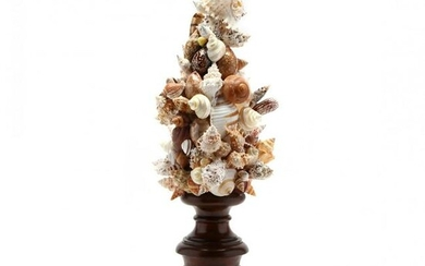 Large Grotto Decorative Shell Topiary