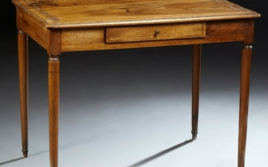 Louis XVI Style Inlaid Walnut Writing Table, 19th c.
