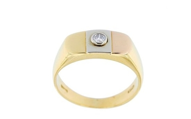 Made in Italy - 18 kt. Yellow gold - Ring - 0.10 ct Diamond