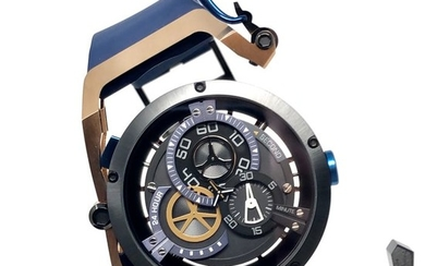 Mazzucato - RIM Rose Gold Reversible Automatic AND Chronograph Rose Gold - Blue - 02-BLCG6 - Men - brand new