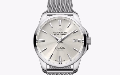 Meccaniche Veneziane - Automatic Redentore 36mm Bianco with EXTRA Stainless Steel Band - 1205001 - Unisex - BRAND NEW