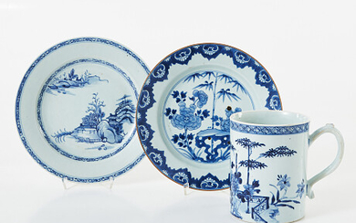 Mugs and plates China Mugg och tallrikar Kina