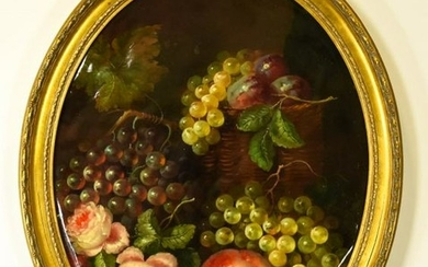 Old Master Style Still Life Giclee W Overpaint
